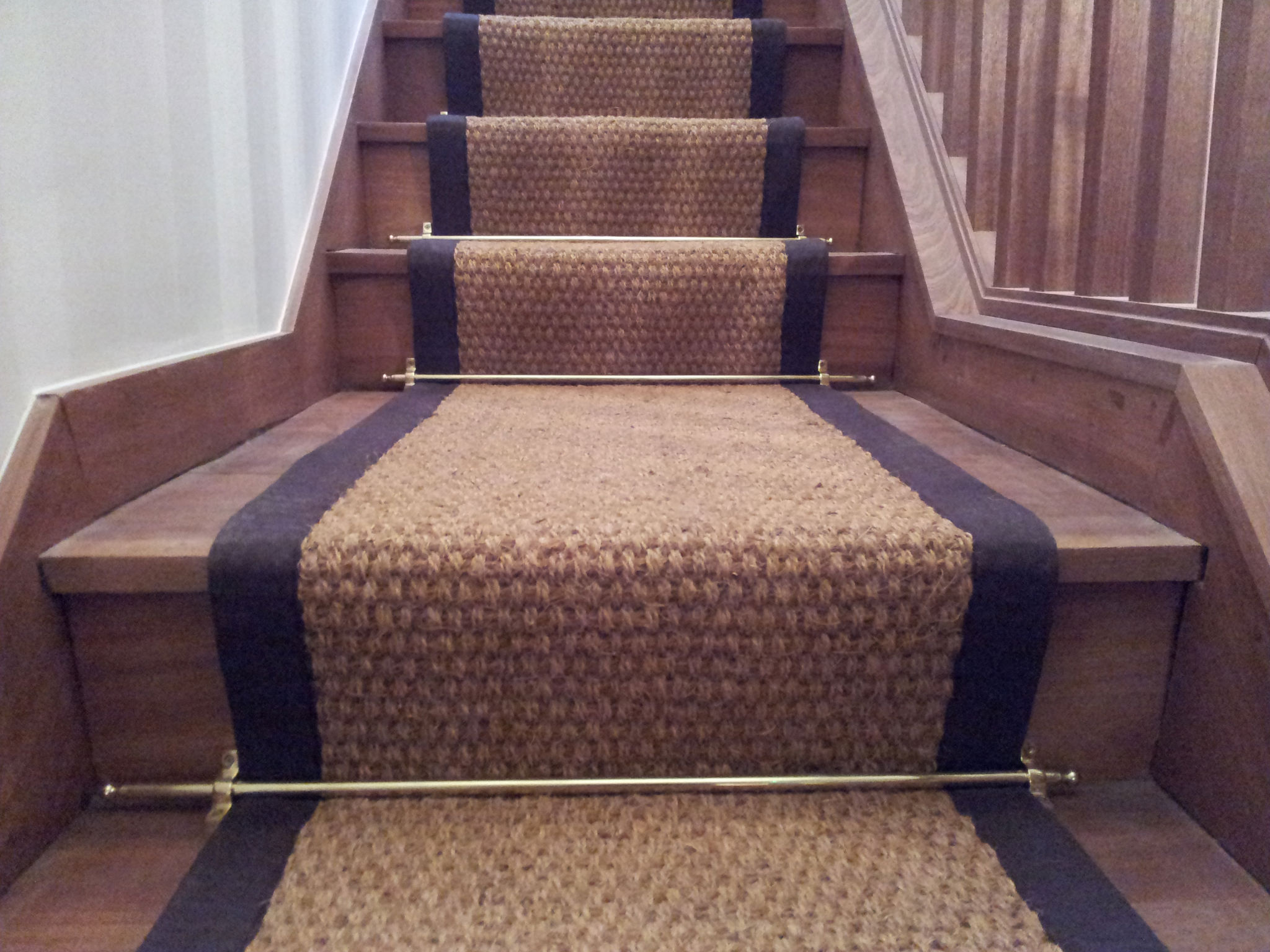 Autumn and Ivory Jute Stair Runner Carpeting